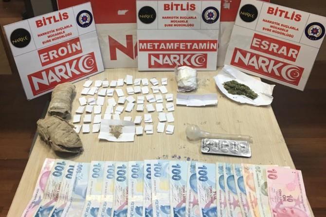 Bitlis'te uyuşturucudan 2 kişi tutuklandı