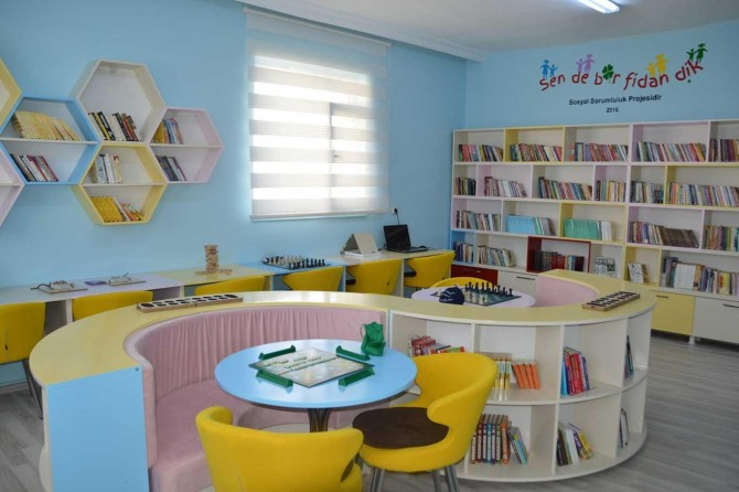 Okullarda kütüphaneler yaygınlaşıyor
