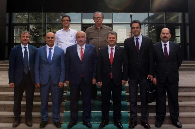 Rektör Durmuş'tan ÖSYM Başkanı Aygün'e ziyaret