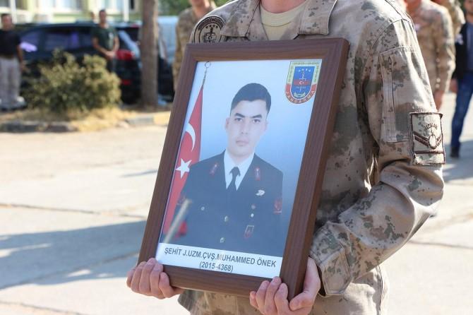 Hayatını kaybeden asker için tören düzenlendi