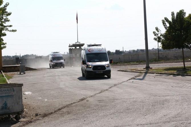 Akçakale sınırında ambulans hareketliliği