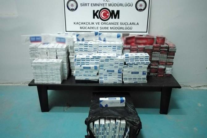 Siirt'te 5 Bin 340 paket gümrük kaçağı sigara ele geçirildi