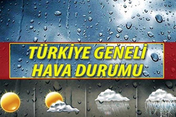 Ülke genelinde hava durumu
