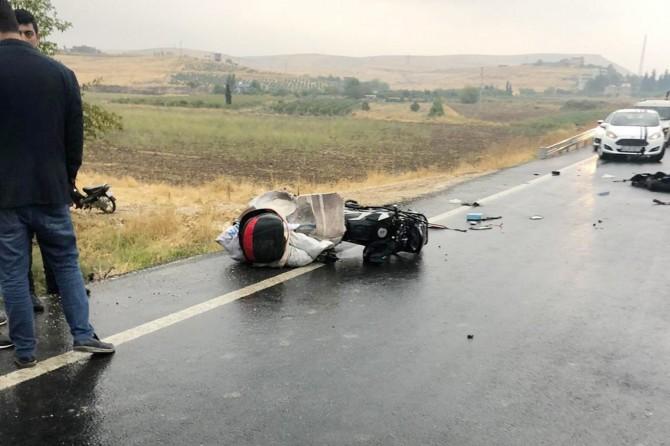 Nusaybin'de motosiklet ile kamyon çarpıştı: 1 ölü