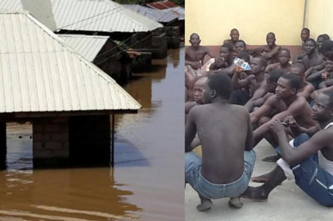 Nijerya'da hapishaneyi sel basınca mahkûmlar kaçtı