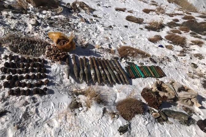 PKK'ye ait çok sayıda mühimmat ele geçirildi