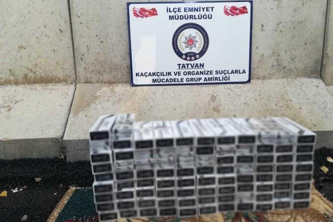 Bitlis'te gümrük kaçağı sigara ve uyuşturucu ele geçirildi