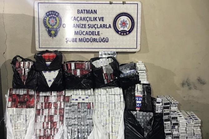 Batman'da binlerce paket gümrük kaçağı sigara ele geçirildi