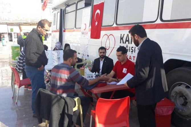HÜDA PAR Kilis İl Başkanlığı kan bağışı kampanyası