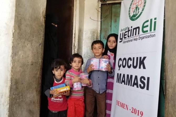 Avrupa Yetîm Elî ji bi hezaran zarokên Yemenî re alîkarî belav kir