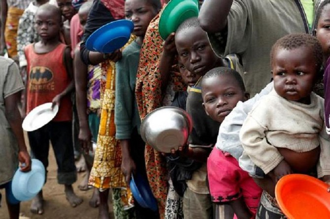 Bi milyonan Afrîkayî bi birçîbûnê re rû bi rû man