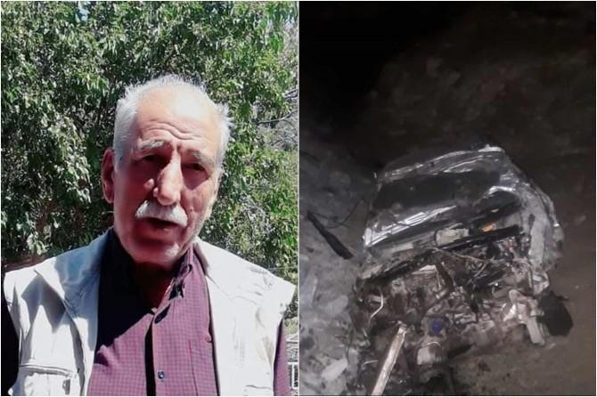 Maden'de otomobil 1 km boyunca yuvarlandı: 1 ölü