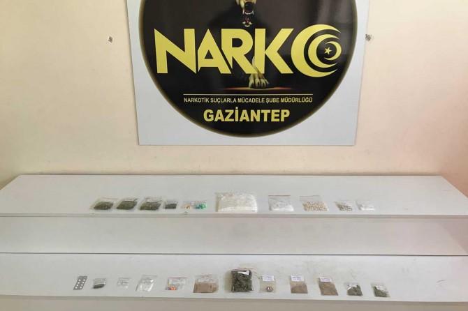 Gaziantep'te 13 şüpheli uyuşturucudan tutuklandı