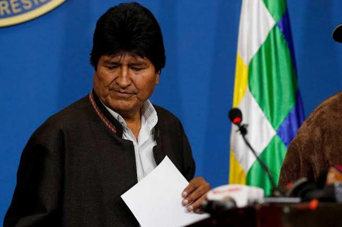 Morales ji Bolîvyayê veqetîya