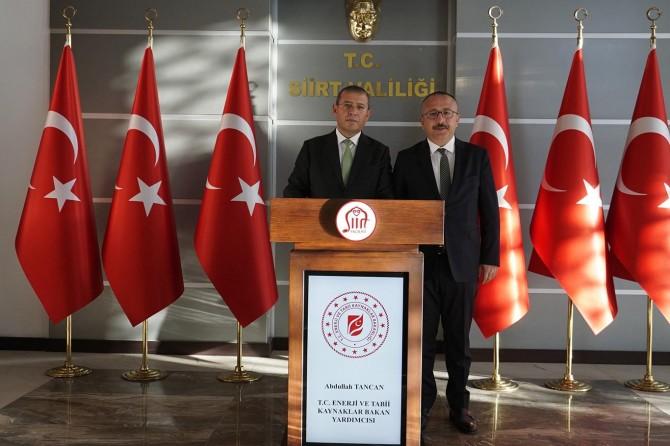 Bakan yardımcısı Tancan Siirt'i ziyaret etti