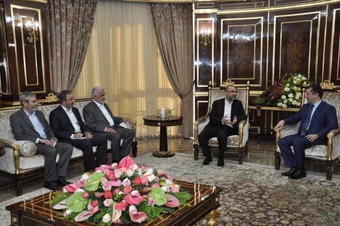 HÜDA PAR Genel Başkanı Sağlam Mesrur Barzani ile görüştü