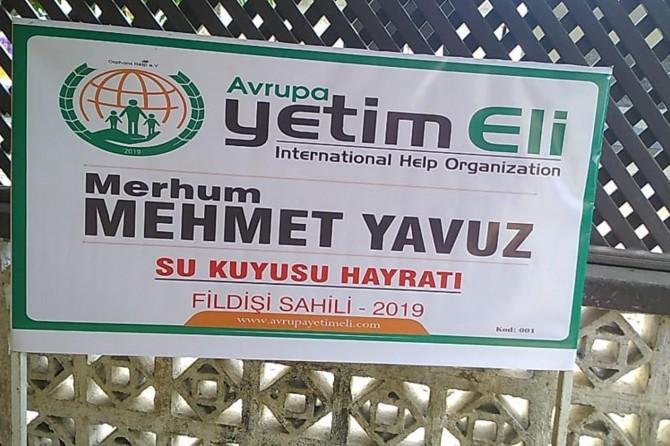 Dildarên Avrupa Yetîm Elîyê li ser navê merhûm Mehmet Yavuz bîra avê dan vekirin