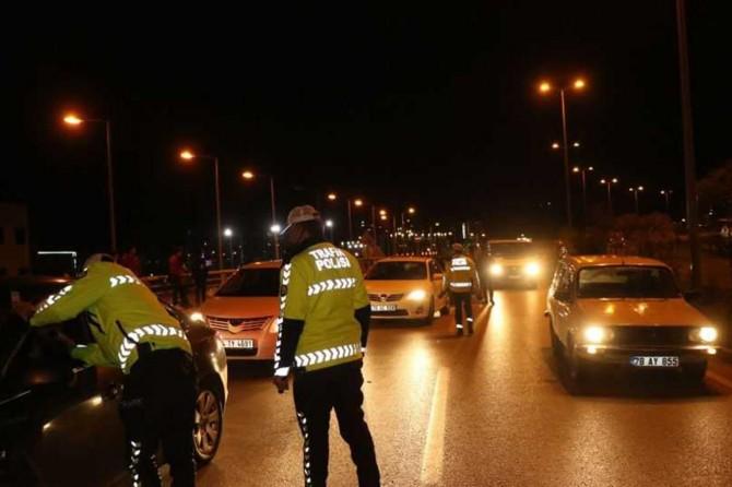 Gaziantep'te trafik denetimleri devam ediyor