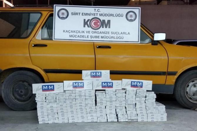 Siirt'te bin 600 paket gümrük kaçağı sigara ele geçirildi