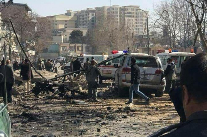 Car bomb explosion hits foreign advisors' vehicle in Kabul