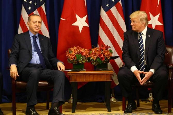 Cumhurbaşkanı Erdoğan ile Trump bir araya geldi