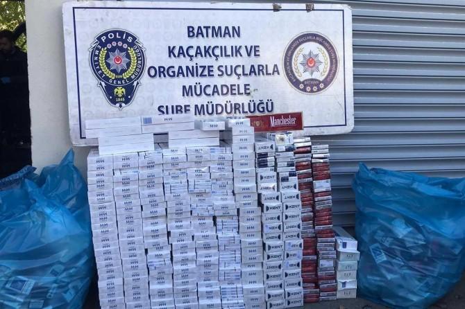 Batman'da asayiş uygulamalarında çok miktarda kaçak malzeme ele geçirildi
