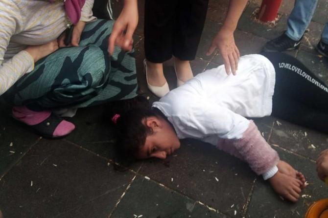 Siirt'te kaydıraktan düşen çocuk yaralandı
