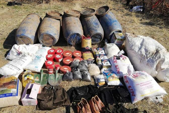 PKK operasyonunda patlayıcı madde ele geçirildi