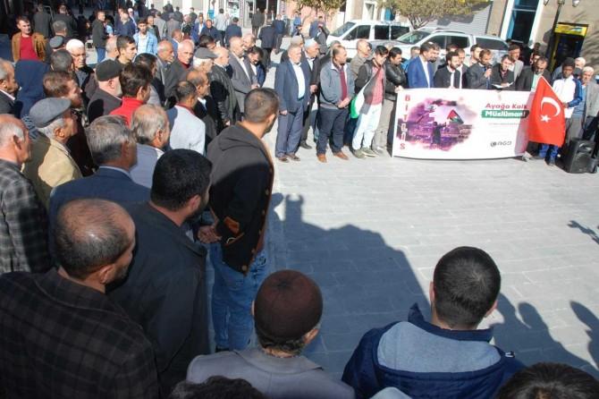 Bitlis'te Filistin şehidleri için basın açıklaması düzenlendi
