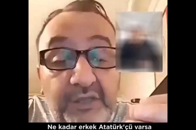 Küfürbaz Kemalist gözaltına alındı