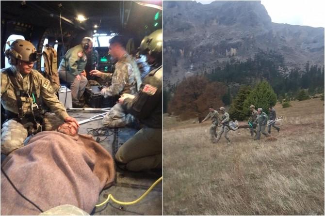 MSB: 2 Kazazede helikopterle hastaneye ulaştırıldı