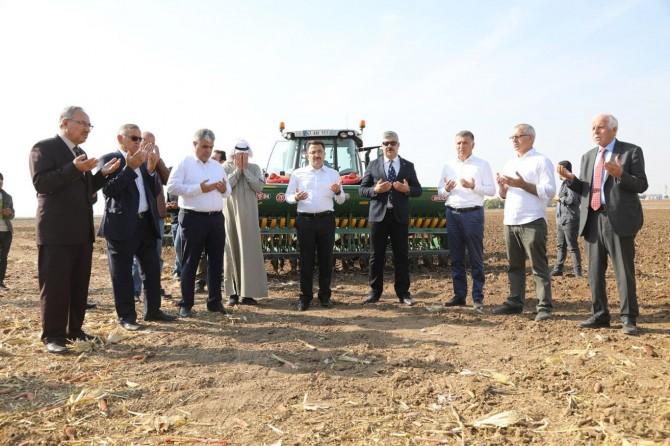 Buğday ekimine dualarla başlandı