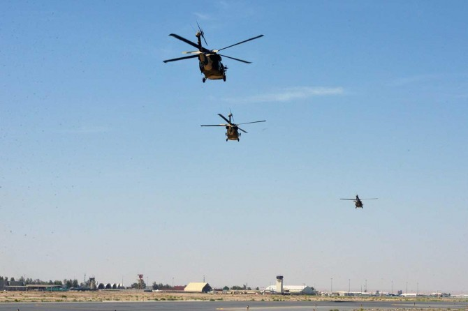 The Taliban shoots down a US helicopter in Logar province
