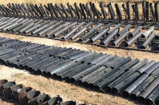 MSB: Rasulayn'da 683 adet roket lançeri ele geçirildi