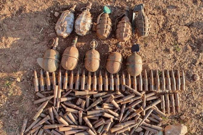 Eruh'ta PKK'nin tuzakladığı bomba ve mühimmat ele geçirildi