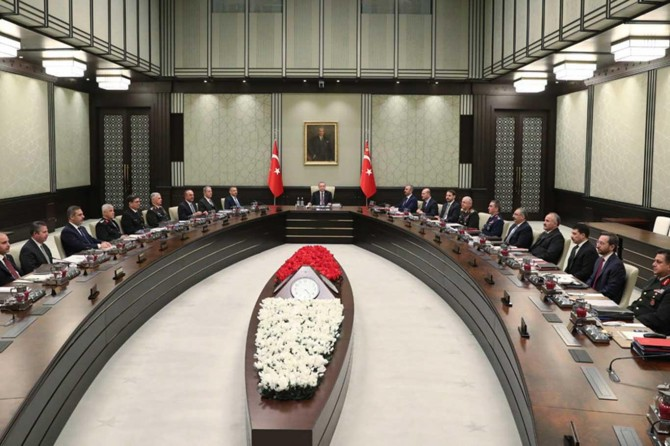 Turkish National Security Council convenes at the Presidential Complex