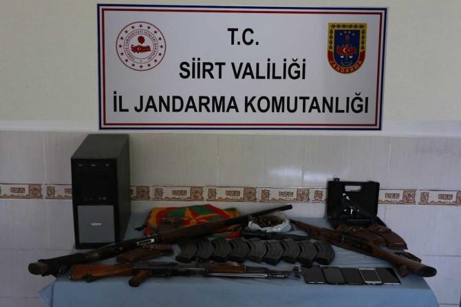 Siirt'te PKK'ye yardım ve yataklık yaptığı belirtilen 6 kişi gözaltına alındı