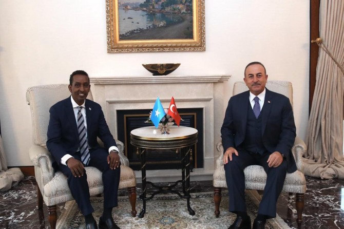 Çavuşoğlu meets with Foreign Minister Ahmed Isse Awad of Somalia