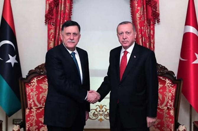 Erdoğan meets with Libyan Presidential Council Chairman Sarraj