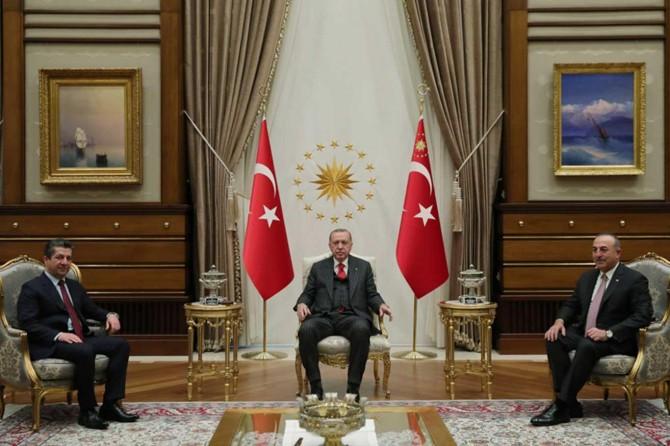 Erdoğan receives Kurdistan's Prime Minister Barzani