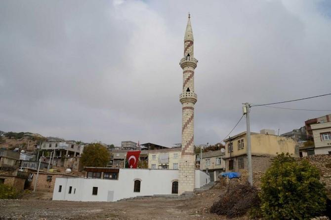 Kocaköy'de 1370 yıllık tarihi caminin restorasyonu tamamlandı