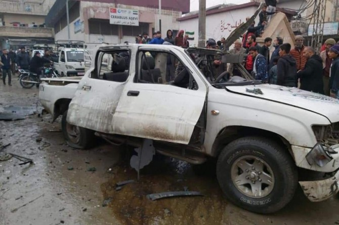 9 people wounded in a car bomb attack in Jarabulus
