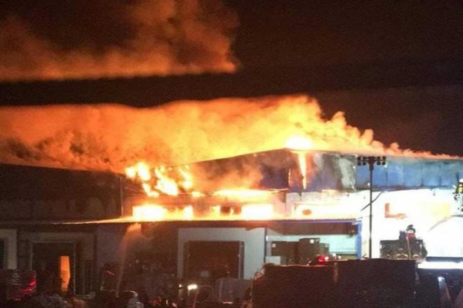 Düzce'de Teknorat Otomotiv Ürünleri Fabrikasında yangın