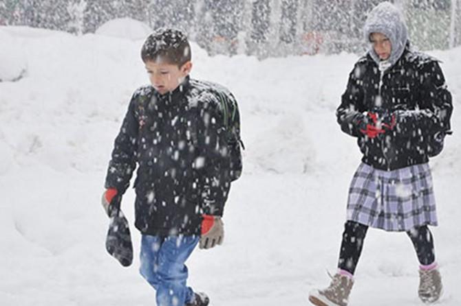 Erzincan'da taşımalı eğitime kar tatili