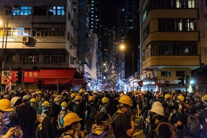 Li Hong Kongê xwepêşndêr cardin derketin kolanan