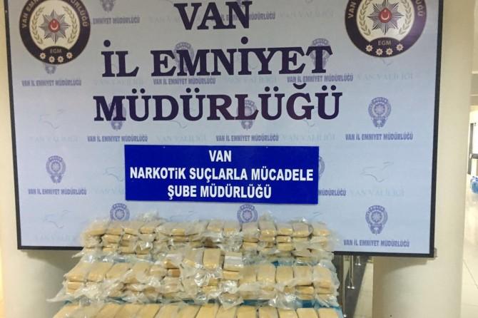 Van'da yüklü miktarda uyuşturucu ele geçirildi