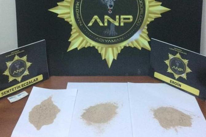 Kâhta'da tarihi eser ve uyuşturucu operasyonunda 4 gözaltı