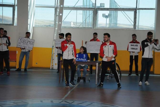 Engellilere farkındalık etkinliği yapıldı
