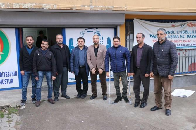HÜDA PAR Bingöl Teşkilatından engelli derneklere ziyaret