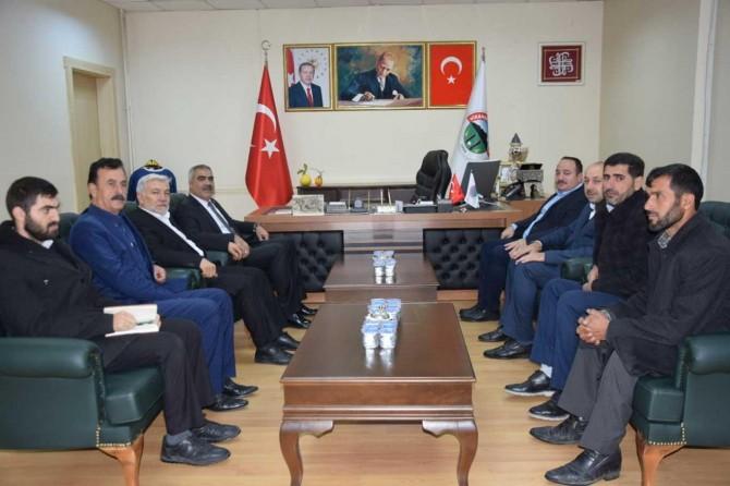 HÜDA PAR Şanlıurfa İl Başkanı Erat, Viranşehir Belediye Başkanını ziyaret etti